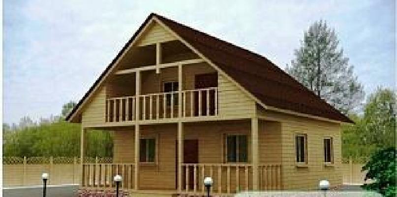 Проекты домов из бруса 8 на 8: обзор вариантов.